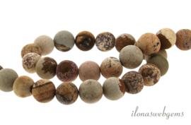 10 strengen Woestijn jaspis mat ca. 8mm
