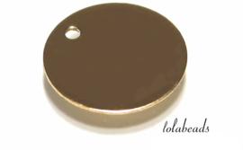 12 stuks Gold filled labeltjes ca. 11x0.4mm