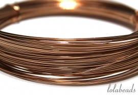 27 meter Rosé Gold filled draad  ca. 0,4mm half hard