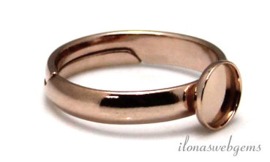 4  stuks Rosé vermeil ring voor cabochon 6mm