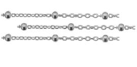 11.9 meter sterling zilveren schakels / ketting 1mm / bolletjes 2mm
