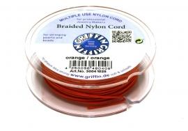 ORANGE: Griffin 'braided' nylon koord (per 5 rollen)