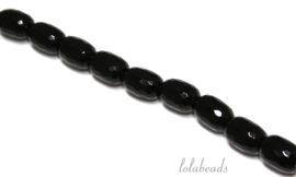 10 Strengen Onyx kralen facet barrel ca. 13x18mm