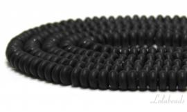 10 strengen Onyx kralen mat  rondel ca. 8x4mm