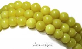 10 strengen Lemon Jade kralen rond ca. 8mm