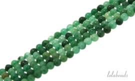 10 strengen Afrikaanse Jade kralen rond mini ca. 2mm