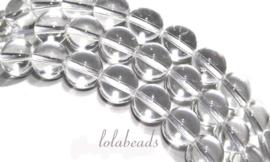 10 strengen Bergkristal kralen rond ca. 10mm