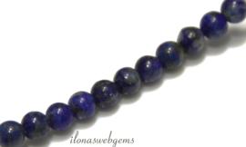 10 strengen Lapis Lazuli kralen rond ca. 4mm (20)