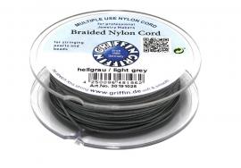 LIGHT GREY: Griffin 'braided' nylon koord (per 5 rollen)