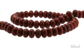 10 strengen Rode Jaspis kralen rondel ca. 8x5mm