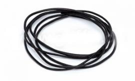 BLACK: Griffin koord leer 1,3mm / 1 meter