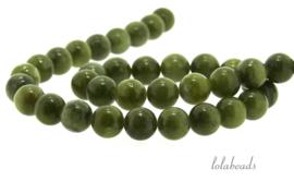 10 strengen Jade kralen rond ca. 8mm (1.19)
