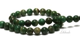 10 strengen African Jade kralen rond ca. 6mm (32)