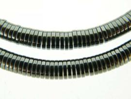 10 strengen Hematiet discs ca. 6x1mm donker