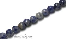 10 strengen  blue spot Jaspis kralen rond ca. 10mm (7)