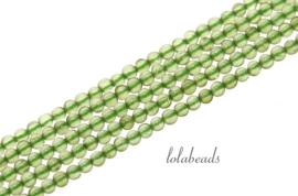 10 strengen Peridoot kralen rond mini ca. 2mm