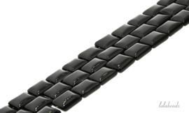 10 strengen Onyx kralen vierkant ca. 12x12mm