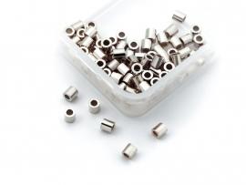 20 stuks Griffin sterling zilveren knijpkraaltjes buis 1,7x2mm