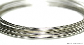 14 meter sterling zilverdraad ca. 0,5mm half hard