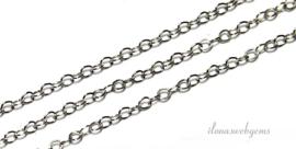 3 meter sterling zilveren schakels / ketting 1.3mm
