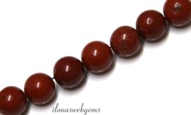 10 strengen Jaspis kralen rond ca. 4mm (41)