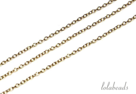 Ca. 3 meter Gold filled schakels / ketting ca. 1mm