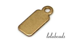 12 stuks Gold filled labeltjes ca. 12x5x0.6mm