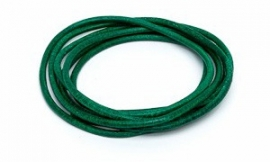 GREEN: Griffin koord leer 2,0mm / 1 meter