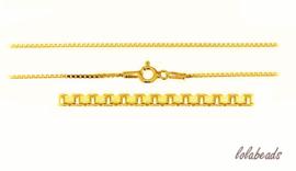 30 stuks 24 krt Vermeil ketting Venetiaans met slotje 45cm