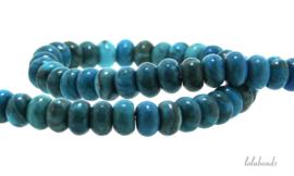 10 strengen Blue crazy Agaat kralen rondel ca. 8x5mm