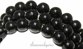 10 strengen Obsidiaan kralen rond ca. 8mm