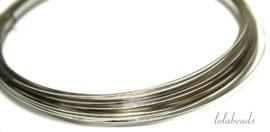 14 meter Silverfilled draad vierkant ca. 0,5mm / 24 gauge half hard