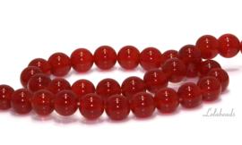10 strengen Rode Agaat A kwaliteit kralen rond ca. 6mm (86)