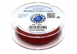 RED: Griffin 'braided' nylon koord (per 5 rollen)
