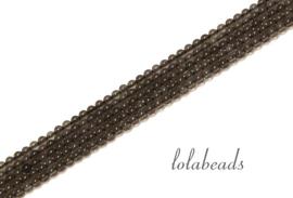 10 strengen Rookkwarts kralen rond mini ca. 2mm