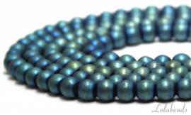 10 strengen Hematiet kralen rond ca. 10mm