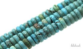 10 strengen Turquoise Howliet rondel ca. 8x3mm
