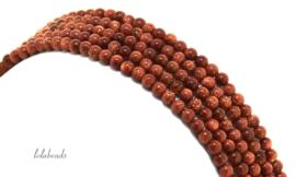10 strengen Goudsteen kralen rond ca. 3mm