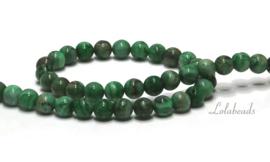 10 strengen Green crazy Agaat kralen rond ca. 6mm (23)