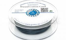 DARK GREY: Griffin wax koord