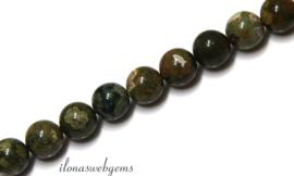 10 strengen Rioliet kralen rond ca. 4mm (38)