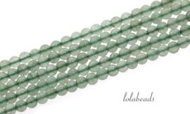 10 strengen Groene Aventurien kralen rond mini ca. 2mm