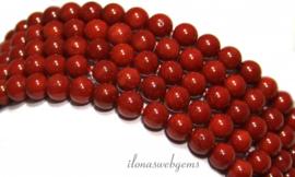 10 strengen Koraal kralen rood rond ca. 10mm