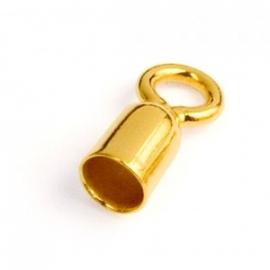 Griffin eindkapje buis gold plated / 100 stuks