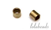100 stuks Gold filled knijpkraaltjes micro ca. 1x1mm