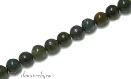 10 strengen Jaspis kralen rond ca. 4mm (28)