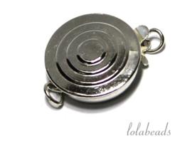 3 stuks Sterling zilveren bakslotje ca. 14x12x4mm