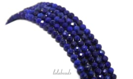 10 strengen Lapis Lazuli kralen mini facet rond ca. 4mm