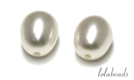 24 paar zoetwaterparels half doorboord ca. 9-9.5mm A kwaliteit