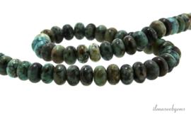 10 strengen African Turquoise kralen rondel ca. 8x5mm